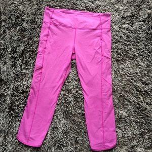 Athleta cropped leggings pants pink sz XL